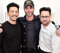 Chris Pine, John Cho e J.J. Abram