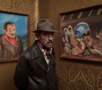 Elio Germano è il pittore Ligabue in una scena del film Volevo nascondermi