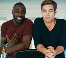 Idris Elba e Chris Pine sul set di Star Trek Beyond