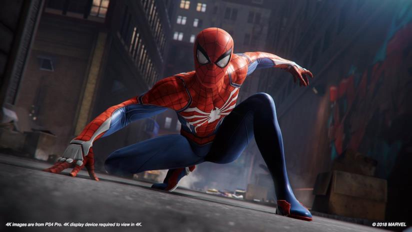 L'Uomo Ragno in azione in Marvel's Spider-Man per PS4