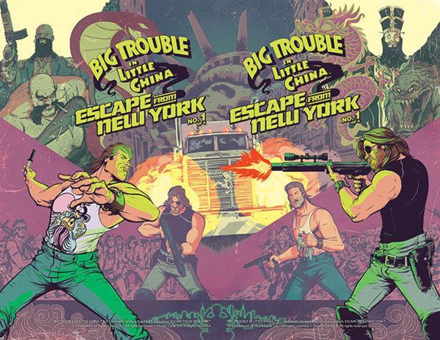 La copertina del primo numero del fumetto crossover