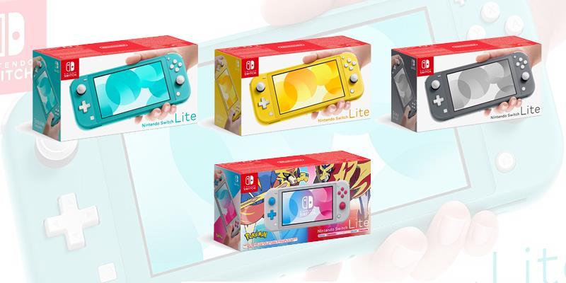 Le diverse colorazioni di Nintendo Switch Lite