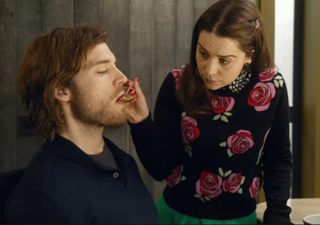 Io Prima di Te, Emilia Clarke e Sam Claflin in una scena di Io Prima di Te