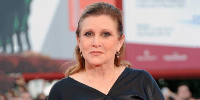 Carrie Fisher sul red carpet
