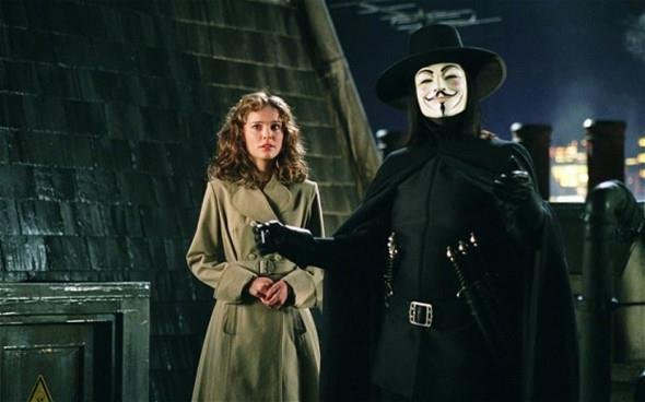 I due protagonisti di V per Vendetta