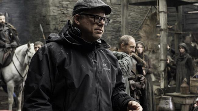 Alex Graves sul set della serie Game Of Thrones