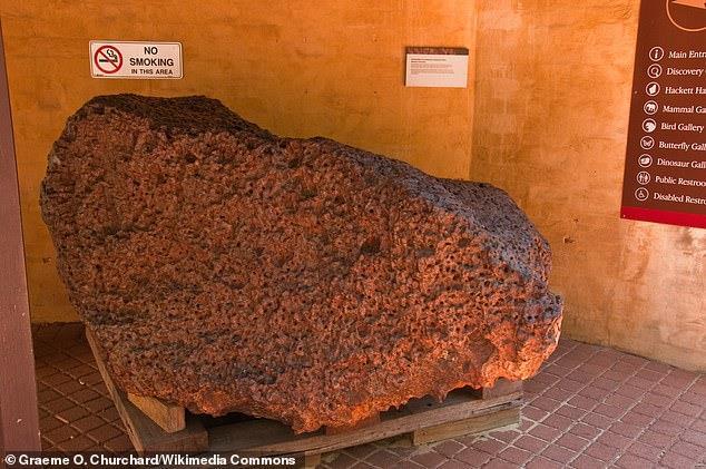 Uno scatto del meteorite Mundrabilla