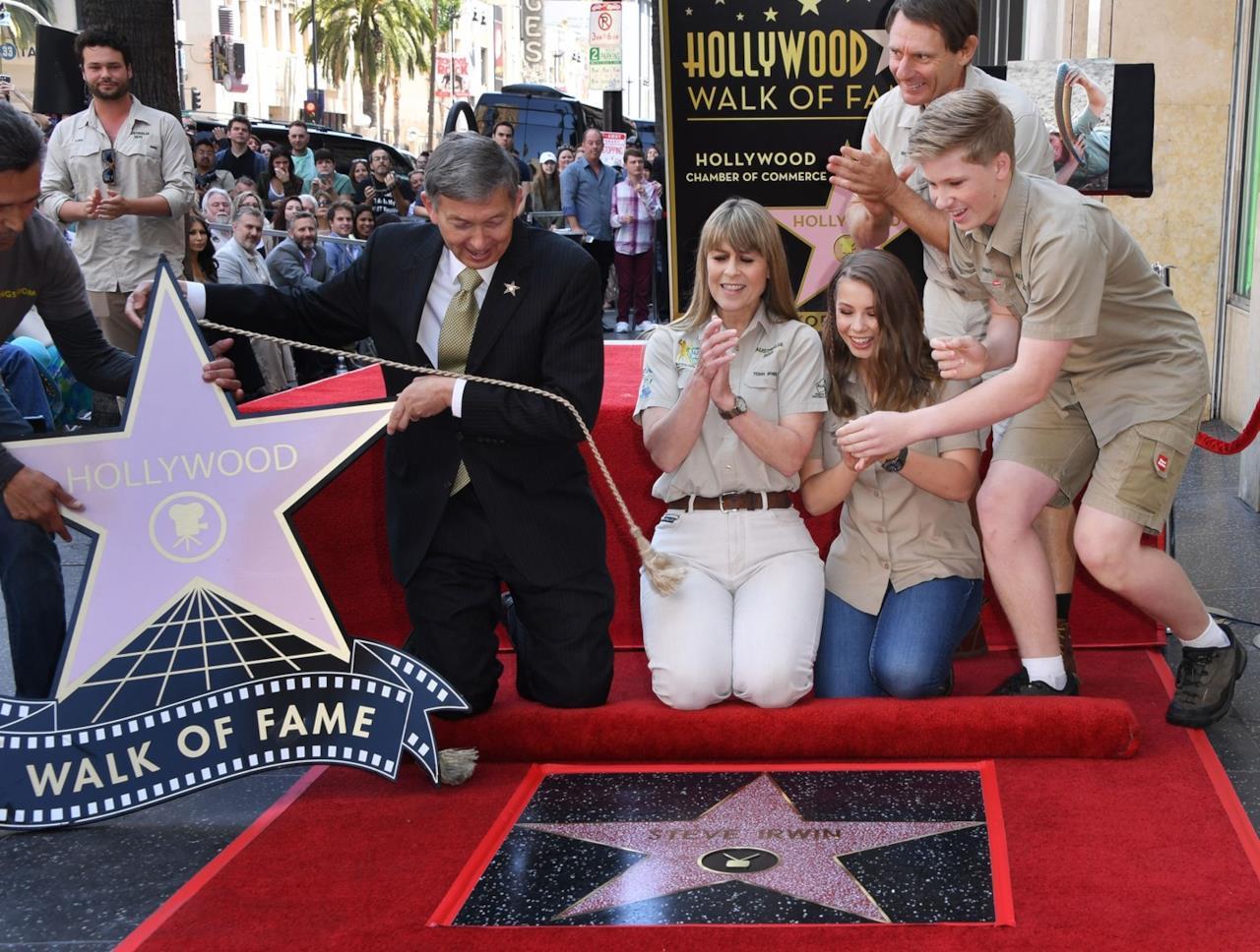 La manifestazione postuma per la stella di Steve Irwin