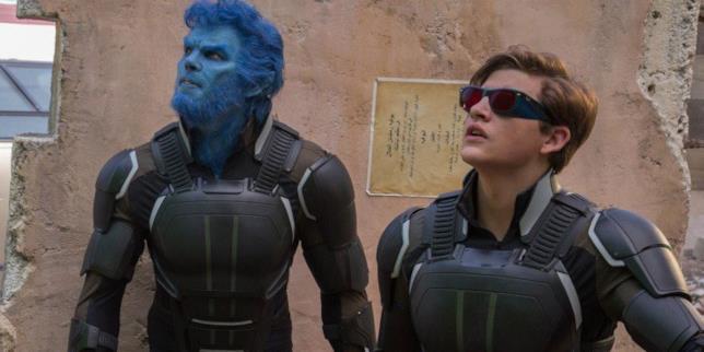 Bestia e Ciclope in una sequenza di X-Men: Apocalypse