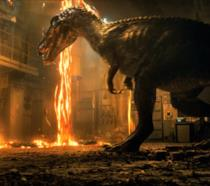 Il Baryonyx in una scena del trailer di Jurassic World: Il Regno Distrutto
