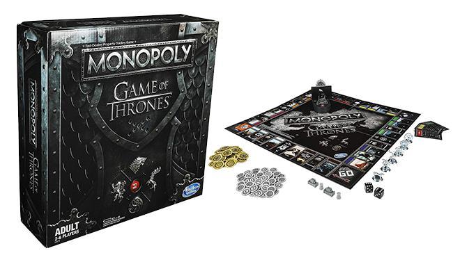 Il packaging e il contenuto di Monopoly: Game of Thrones