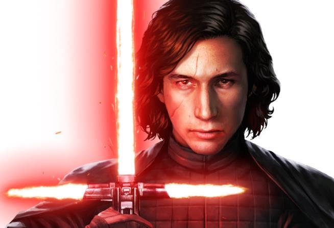 Un primo piano di Kylo Ren da Star Wars: Force Arena
