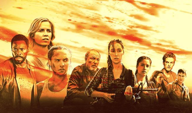 Un banner promozionale di Fear the Walking Dead