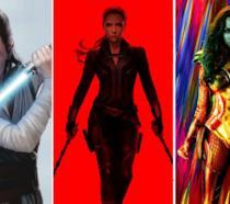 Da sinistra: Black Widow, Rey e Wonder Woman