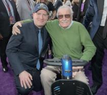 Kevin Feige insieme a Stan Lee