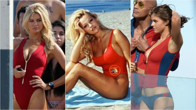 Kelly Rohrbach e Alexandra Daddario assieme a Pamela Anderson