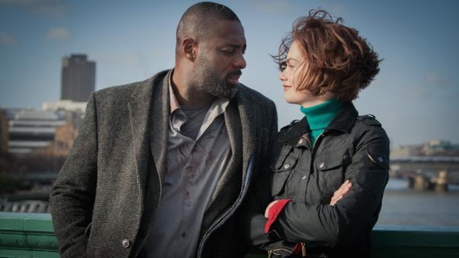 Luther con Idris Elba e Ruth Wilson