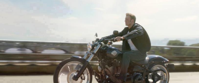 Chris Evans nei panni di Steve Rogers in Captain America: The Winter Soldier