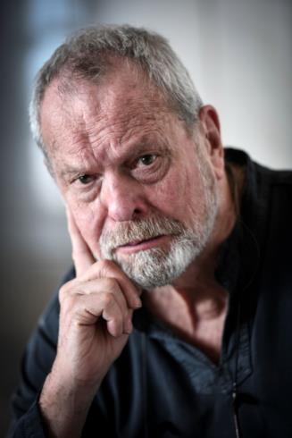 Primo piano del regista Terry Gilliam