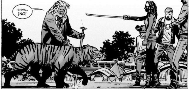 King Ezekiel incontra Michonne in The Walking Dead