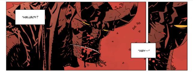 Hellboy in una immagine da La Caccia Selvaggia