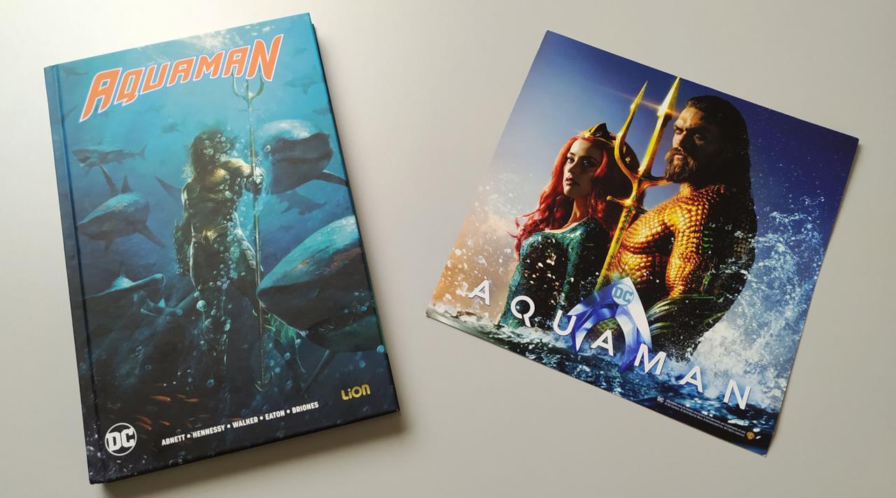 Fumetto e Card di Aquaman in versione Comicbook+Blu-ray