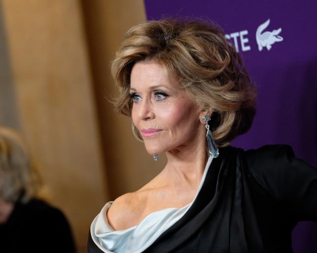Un'intenso primo piano di Jane Fonda