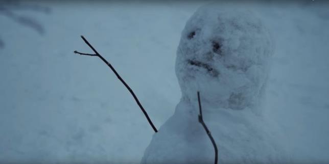 L'Uomo di Neve: l'inquietante pupazzo di neve lasciato dal serial killer