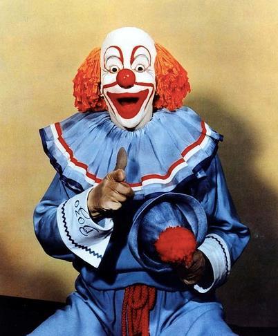 Un primo piano del clown Bozo