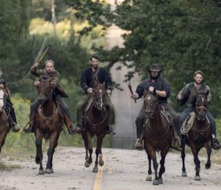 Connie e Daryl nell'episodio 9x13 di The Walking Dead
