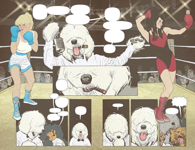Hot Dog fa da arbitro in uno scontro di boxe tra Betty e Veronica