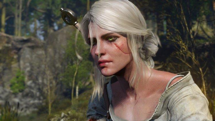 Ciri in una scena di gioco di The Witcher 3