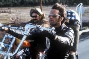 Peter Fonda e Dennis Hopper in una scena di Easy Rider