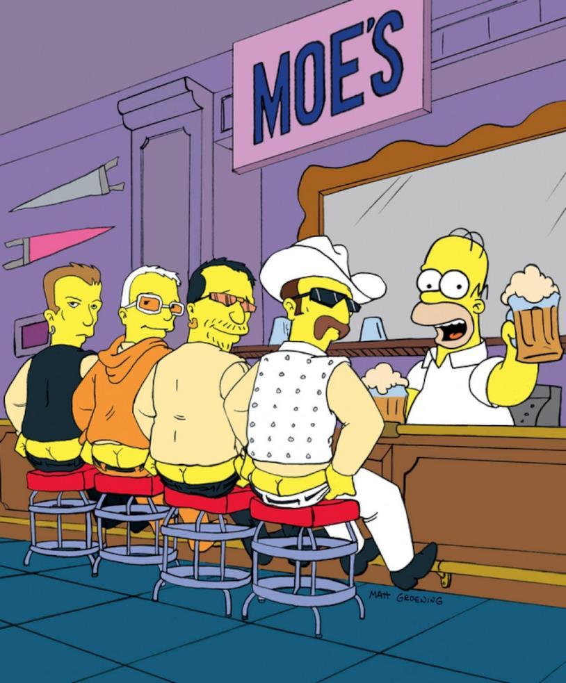 Gli U2 nell'episodio dei Simpson dedicato a loro