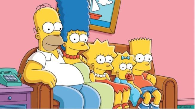 In foto Homer, Marge, Lisa, Maggie Bart