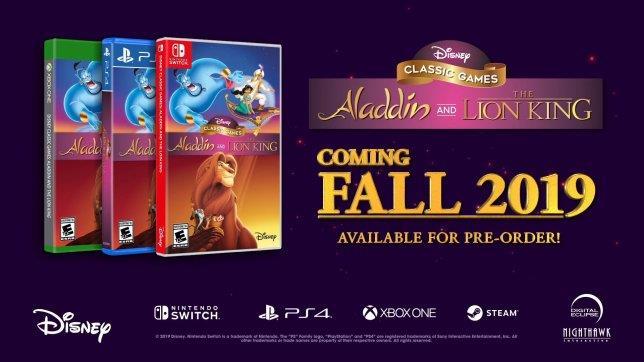 L'immagine promozionale che ha accompagnato l'annuncio di Disney Classic Games: Aladdin and The Lion King