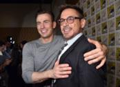 Chris Evans insieme a Robert Downey Jr.