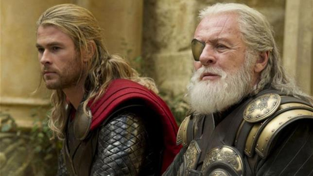 Anthony Hopkins nel film Thor