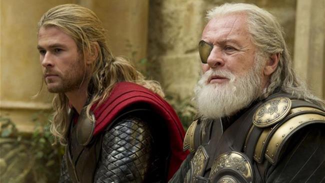 Anthony Hopkins nel film Thor