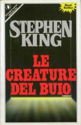 La copertina de Le creature del buio