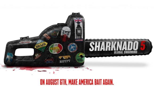 Il poster ufficiale di Sharknado 5: Global Swarming