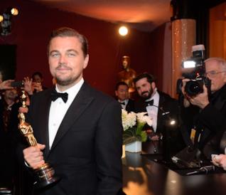 Leonardo DiCaprio, vincitore dell'Oscar nel 2016 come Miglior attore protagonista