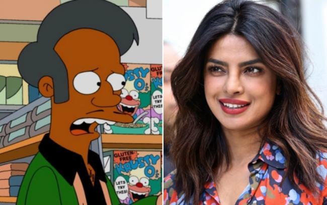 L'attrice Priyanka Chopra ha espresso in un'intervista il suo dissenso peri il personaggio di Apu