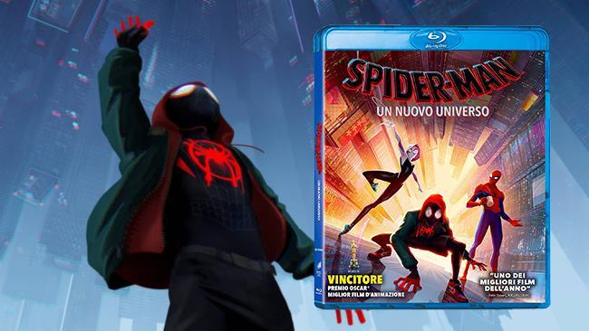 L'edizione Blu-ray di Spider-Man: Un nuovo universo