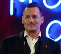Johnny Depp alla prima di Assassinio sull'Orient Express