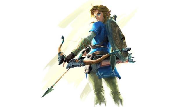 Link posa con il suo arco in un artwork ufficiale di The Legend of Zelda: Breath of the Wild