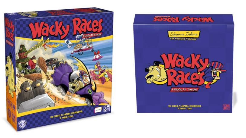 Le due edizioni italiane del gioco da tavolo delle Wacky Races