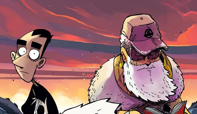 Macerie Prime, parte della cover con Zerocalcare e un misterioso vecchio