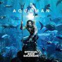 Justice League Aquaman 2019calendario calendario ufficiale quadrato con organizzatore adesivi Bundle