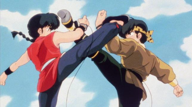 Ranma combatte con il suo rivale